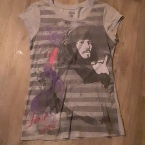 Captain Jack Sparrow capped tee shirt-M